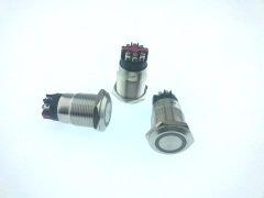 Onpow LAS1GQ-11E/L/R/ 24V/S Buton 19mm Kırmızı Halka Işıklı Vida Bacak  IP65